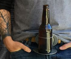 The BevBuckle - Retractable Drink Holder Belt Buckle