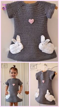 Crochet Baby Girl Crochet Beehive Baby Dress And Hat Dress Set Crochet Pattern - Beehive Crochet Baby Dress And Hat FREE Pattern Pull Crochet, Crochet Diy, Easy Crochet Patterns, Crochet For Kids, Baby Patterns, Knitting Patterns Free, Baby Knitting, Sewing Patterns, Knitting Sweaters