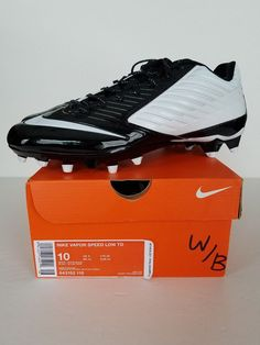 b39249a48 NIKE VAPOR SPEED LOW TD Football Cleats Mens NEW 643152-110 Black White   Nike  FootballCleats