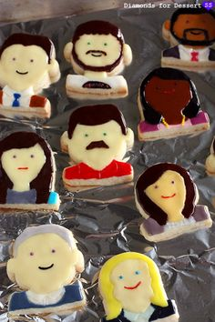 Parks and Rec Cookies by Diamonds for Dessert
