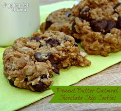 Juggling Act: Peanut Butter Oatmeal Chocolate Chip Cookies