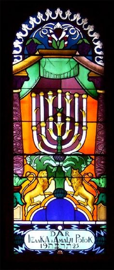 ~ Living a Beautiful Life ~ Stained glass in the Temple synagogue