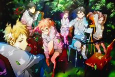 Tomorrow sunny Beyond the Boundary Kyoukai no Kanata Anime Posters Art Silk Poster Anime Films, Anime Characters, Katana, Wallpaper Telephone, Computer Wallpaper, Otaku, Mirai Kuriyama, Beyond The Boundary, Barakamon