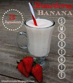 strawberry banana smoothie #smoothies