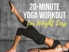 20 Minute Yoga Workout For Weight Loss | Yoga for Weight Loss | Yoga to Lose Weight | Avocadu.com