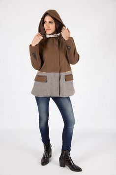 HOODED LUXE PARKA R - Large hooded design - Concealed zip through front - High neckline with press stud fastening - Faux fur lining Parka, Faux Fur, Hoods, Neckline, Zip, Coat, Sweaters, Jackets, Collection