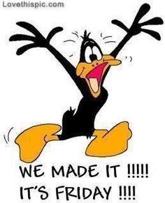 its Friday funny quotes friday funny quotes looney tunes tgif daffy duck days of the week Humor Friday Quotes Humor, Happy Friday Quotes, It's Friday Humor, Friday Sayings, Happy Friday Pictures, Hump Day Humor, Friday Wishes, Humor Quotes, Qoutes