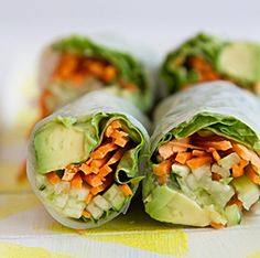 Vegan Spring Rolls... Happy Hour Appetizers 20 | Hampton Roads Happy Hour - 1