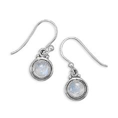 Rainbow Moonstone Polished Edge Round Sterling Silver Earrings.More info for gold stud earrings;garnet earrings;silver earrings;peridot earrings;drop earrings could be found at the image url.(This is an Amazon affiliate link and I receive a commission for the sales)