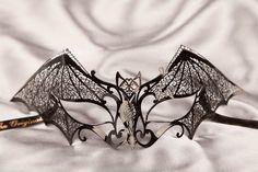 Luxury Filigree Metal Venetian Masquerade Masks - PIPISTRELLO £79.95