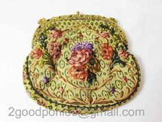 Antique tapestry petit point bag