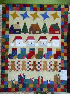Christmas row quilt