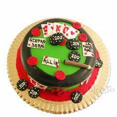 Pentru cei care stiu sa riste am creat acest tort Poker. Desserts, Food, Tailgate Desserts, Deserts, Essen, Postres, Meals, Dessert, Yemek