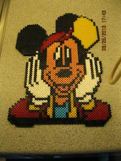 Mickey Mouse hama beads by  jeatut