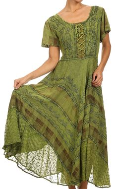 c5997905 Sakkas 15323 - Mila Long Corset Embroidered Cap Sleeve Dress With  Adjustable Waist - Navy - 1X/2X at Amazon Women's Clothing store: