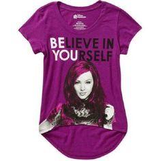 "Girls Disney Descendants Shirt ""Believe in Yourself"" NWT Sz 10/12 High/Low style #Disney"