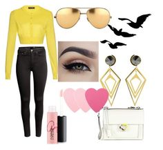 """""""The Sassy Look"""" by lildcon on Polyvore featuring Dolce&Gabbana, H&M, Linda Farrow, Sarah Magid, Salvatore Ferragamo, MAC Cosmetics, Sephora Collection, women's clothing, women and female"""