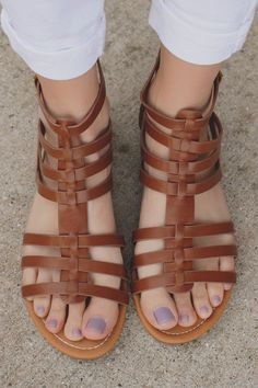 Whiskey Buckle Accent Strappy Gladiator #Sandal Dixon-AS
