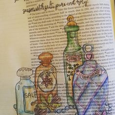 Take sweet spices with pure frankincense, season with salt, pure and holy. Exodus 30:34-35 #biblejournaling #bibleart #biblestudy #worship #faithinheart #faithful #faith #illustratedfaith #documentedfaith #handdrawn #blessed #godsword #watercolor #journalingbible #christiancoloringbooks #christianart #coloredpage #published
