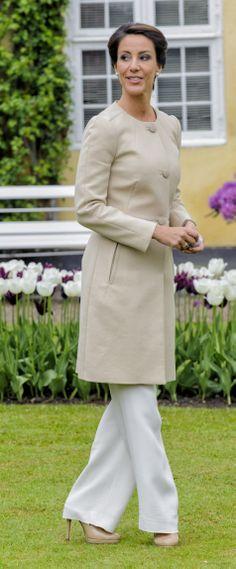 Denmark's Princess Marie attends the 2014 Naming of Tulip in Gavnø Castle