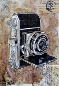 "Saatchi Art Artist Loui Jover; Drawing, ""the vintage traveller"" #art"