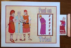 Paul before Festus and King Agrippa printable