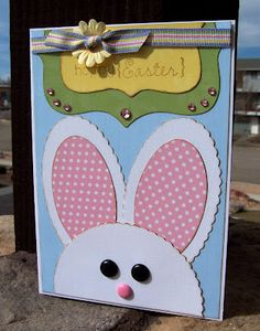 Happy Easter Card designed by Gail Owens using Kiwi Lane Designer Templates.