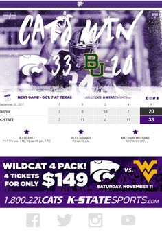 K State  - Post Game Sports Marketing, Marketing Automation, Game, Games, Toy