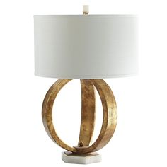 Gold Sphere Lamp