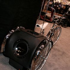 Lowrider trike complete with sub, amp, speakers, and 3.5mm input