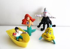 Vintage 90s the Little Mermaid pvc figures toys