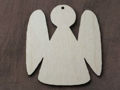 5x Wooden Angel Wedding Decoration Rustic Hanging Blank Gift Shape Tag