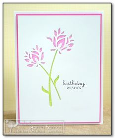 totally awesome glitter flower card by Karen Haman!