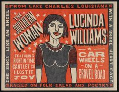 Lucinda Williams poster.