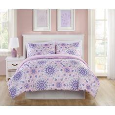 Vcny Home Pretty Dreamer Medallion Bedding Comforter Set, Purple Kids Bedroom Dream, Girls Bedroom, Bedroom Decor, Bedroom Ideas, Kid Bedrooms, Kids Comforter Sets, Bedding Sets, Daughters Room, Bed Sizes