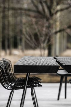 Photos and Videos 16 of 47 from project Private House Aalst (B) Black Table, Black Edition, Vintage Industrial, Outdoor Furniture, Outdoor Decor, Vintage Designs, Ottoman, Photo And Video, Interior