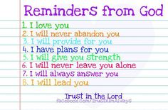 reminders from God