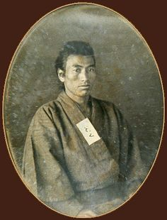Japanese antique photograph.   Rishichi. It is the person who he begins being a Japanese, and became the subject. When a ship drifted, he was saved in an American ship and went to San Francisco. 1850.