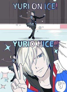 "Ahaha. It would be a totally different anime if it was ""Yuri Nice."""
