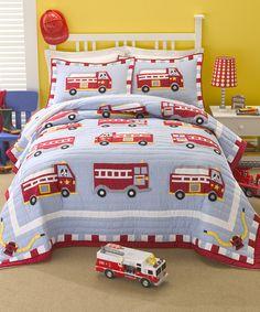Fire Rescue Quilt Set - perfect set for a little boy's room.