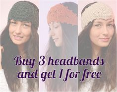Buy 3 headbands and get 1 for free by SexyCrochetByOlga on Etsy