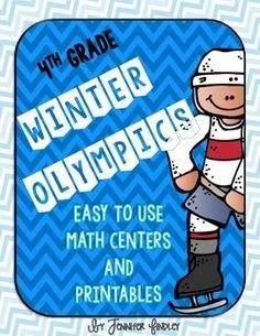 4th Grade Common Core Aligned Olympic Math Centers! $