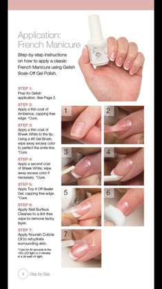 Step-by-Step Gel French Manicure