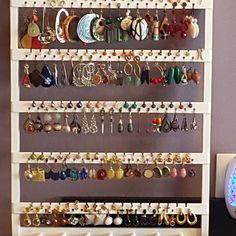 ON SALE White Earring Holder Jewelry Organizer, 21 x Elegant Deluxe, Ring Organizer, Bracelet Storage Necklace Rack Bracelet Storage, Earring Storage, Necklace Storage, Necklace Holder, Earring Display, Jewelry Holder, Jewellery Storage, Jewellery Display, Jewelry Drawer