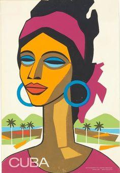 A Alonso, 1960's, Cuba, Instituto nacional de la Industria turistica.