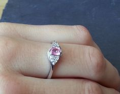 Hey, I found this really awesome Etsy listing at https://www.etsy.com/listing/246350383/vintage-pink-sapphire-engagement-ring