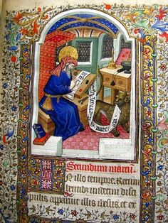 *st marc Les HEURES HACHETTE.  Livre d'Heures à l'usage de Paris, en latin et en français.  Manuscrit enluminé sur vélin [c. 1430:1435]. folio 11
