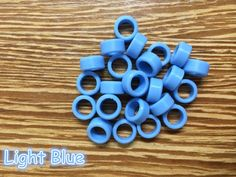 25pcs/Bag Large Type Dental Silicone Instrument Color Code Rings Light Blue #UnbrandedGeneric