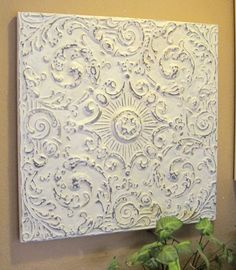 2'x2' Antique Ceiling Tile Circa 1910  FRAMED & by DriveInService, $59.00