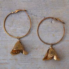 Charm hoop earrings  TINKER BELL by AMEjewels on Etsy, €20.00